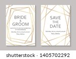 wedding invitation design or... | Shutterstock .eps vector #1405702292