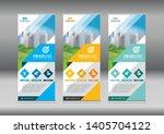 business roll up. standee... | Shutterstock .eps vector #1405704122