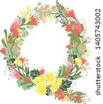 floral alphabet letters with... | Shutterstock .eps vector #1405743002