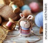 handmade knitted toy. amigurumi ...   Shutterstock . vector #1405743845
