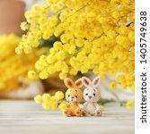 handmade knitted toy. amigurumi ...   Shutterstock . vector #1405749638
