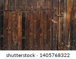 Very Old Wooden Door Of A...