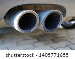 car exhaust pipe smoke fumes | Shutterstock . vector #1405771655