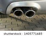 car exhaust pipe smoke fumes | Shutterstock . vector #1405771685