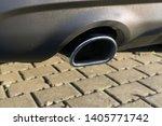 car exhaust pipe smoke fumes | Shutterstock . vector #1405771742
