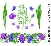 seamless brush of purple meadow ... | Shutterstock .eps vector #1405792745
