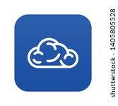 ui cloud icon blue vector...