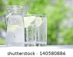 early summer  drink  cold water  | Shutterstock . vector #140580886
