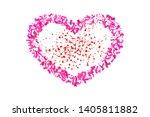 heart confetti isolated white... | Shutterstock .eps vector #1405811882