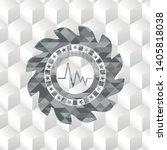 electrocardiogram icon inside... | Shutterstock .eps vector #1405818038