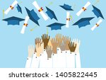 graduating students pupil hands ...   Shutterstock .eps vector #1405822445