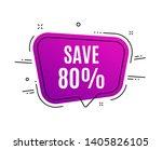 speech bubble banner. save 80 ... | Shutterstock .eps vector #1405826105