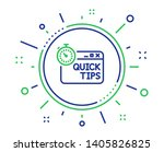 quick tips line icon. helpful... | Shutterstock .eps vector #1405826825