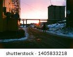 sunset by nikon f 80