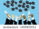 graduating students pupil hands ...   Shutterstock .eps vector #1405835012