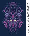 robot samurai head with sacred... | Shutterstock .eps vector #1405926728