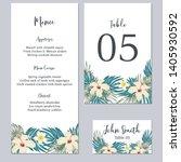 tropical floral wedding... | Shutterstock .eps vector #1405930592