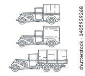 line vector icon set american...   Shutterstock .eps vector #1405939268