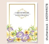 vintage delicate greeting... | Shutterstock .eps vector #1405949078