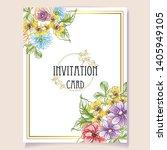 vintage delicate greeting... | Shutterstock .eps vector #1405949105