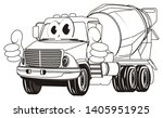 coloring funny cement truck... | Shutterstock . vector #1405951925