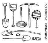 mining and digging tools.... | Shutterstock .eps vector #1406001572