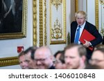 Small photo of Boris Johnson, Secretary of State for Foreign Affairs in London, UK. July 2017