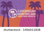 caribbean american heritage... | Shutterstock .eps vector #1406011838