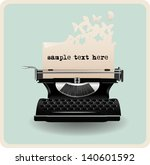 Retro Invitation Card With...