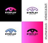 eye video  media  music sound... | Shutterstock .eps vector #1406016365