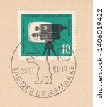 germany circa 1961 a stamp... | Shutterstock . vector #1406019422