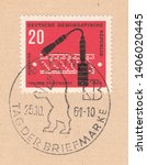 germany circa 1961 a stamp... | Shutterstock . vector #1406020445