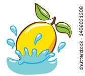 lemon vector cartoon graphic...   Shutterstock .eps vector #1406031308