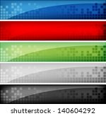 Stock vector abstract web banners 140604292