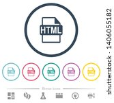 html file format flat color...