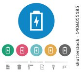 battery with energy symbol flat ... | Shutterstock .eps vector #1406055185