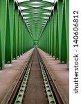 railway bridge with steel grid...   Shutterstock . vector #140606812