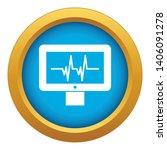electrocardiogram monitor icon... | Shutterstock .eps vector #1406091278