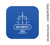 air energy icon blue vector... | Shutterstock .eps vector #1406092592