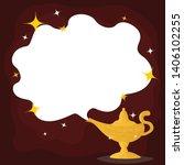 aladdin's magic lamp. vector... | Shutterstock .eps vector #1406102255