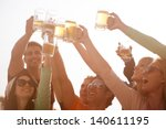 group of attractive young... | Shutterstock . vector #140611195