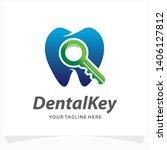 dental keys logo design template | Shutterstock .eps vector #1406127812