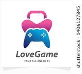 love game logo design template | Shutterstock .eps vector #1406127845