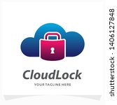 cloud lock logo design template | Shutterstock .eps vector #1406127848