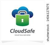 cloud safe lock logo design... | Shutterstock .eps vector #1406127875