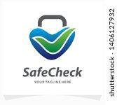 safe check logo design template | Shutterstock .eps vector #1406127932