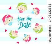 wedding invitation template.... | Shutterstock .eps vector #1406132558