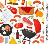 vector seamless pattern of... | Shutterstock .eps vector #1406132828