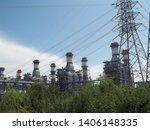 power plants meet nature ... | Shutterstock . vector #1406148335