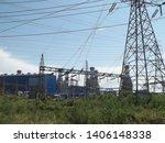 power plants meet nature ... | Shutterstock . vector #1406148338